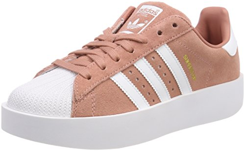 adidas Superstar Bold W, Zapatillas Mujer, Rosa (Ash Pink/Footwear White/Gold Metallic 0), 38 2/3 EU