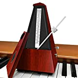 SiliPacks Mechanical Music Metronome Elegant Vintage Design Music Timer for Drums Piano Bass Violin Guitar Track Tempo and Beat Instrument- Red