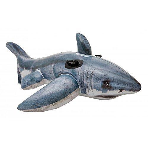 Lively Moments Aufblasbarer Hai / Reittier / Schwimmtier / Aufblastier / Badetier / Shark in grau - weiß 173 cm
