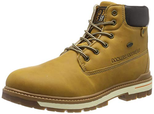 Dockers by Gerli Unisex 45TG701 Combat Boots, Gelb (Golden Tan 910), 38 EU