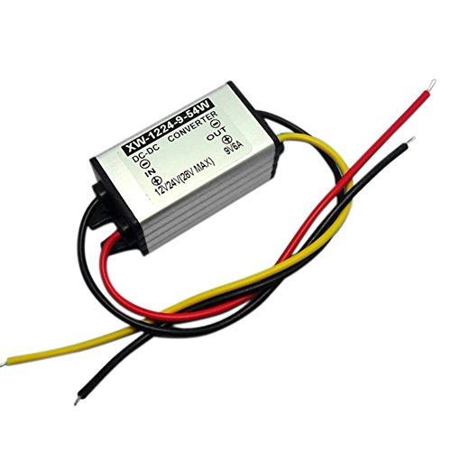 Blackr Convertidor de corriente de 12 V a 9 V CC, 6 A 54 W DC Buck fuente de alimentación cambiador de voltaje regulador