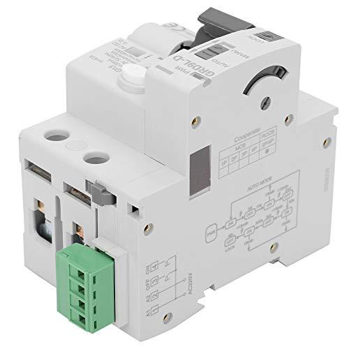 Protector de Voltaje 2P Dispositivo de Protección Contra Sobretensiones 230 V Funciona con Disyuntor/Interruptor de Protección Contra Fugas, 3 Veces Reconexión Incorporada(63A)