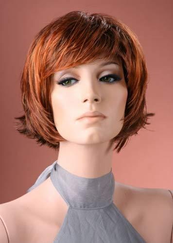Perruque courte Auburn mélangé pour femme
