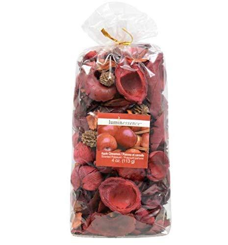 Osnell Lights USA [6 Pack] Aromatique Cinnamon Scent Potpourri Bag Apple Fresh, Perfume Sachet of Dried Flower Petals, for Bowl & Vase Decorative Filler Home & Spa Fragrance 4 oz. Bags