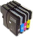 LC11 LC16 染料 4色セット (LC11/16BK×1 LC1