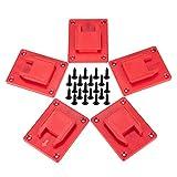 5 paquetes de soporte de herramientas para herramientas Milwaukee M18, también apto para Dewalt 20V, 12V Dril Holder, percha (lote de 5, rojo)