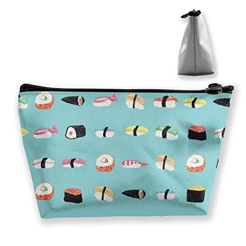 Sushi Endpaers Trapezförmige Kosmetiktasche für Damen