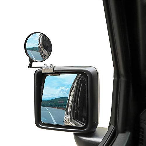 Savaricar Blind Spot Mirrors Rear View Wide-Angle Side Mirror for 1996-2019 Jeep wrangler TJ JK JL, Jeep Wrangler Accessories, 360 Degree Adjustable, Pair
