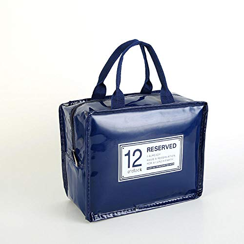 WENSISTAR Isoliertasche Meal prep ,Portable Portable Lunch Bag, Candy Color Insulation Bag, Waterproof Insulation Picnic Bag@Navy,Kühltasche Bewahrung Tasche