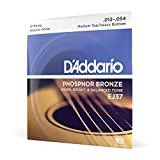 D'Addario EJ37 - Juego de cuerdas para guitarra acústica de fósforo/bronce.012 - .054