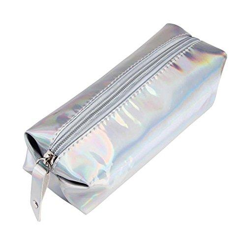 Trousse,Cosmétiques Sac Crayons Trousse à Crayon Trousses De Toilettes Étuis Zipper Pochette Ecolier De Porte-Stylo Sacs De Maquillage Mode Hologram