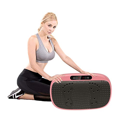 BUCZFC Vibration Plate Exercise Machine, Vibration Platform, Whole Body Shaking Exercise Equipment with Remote Control, Training and Muscle Shaping, Lose Fat & Tone Up Workout Machine for Home Office