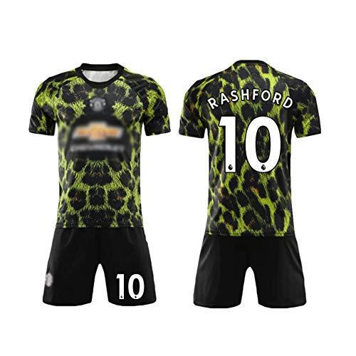 SUNY Premier League Marcus Rashford # 10 Fußball Trikot 2019-2020 Kinder Fußball Trikot Hose Kindergrößen Erwachsene,Grün,M