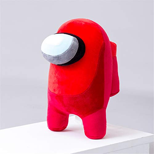 Yagerod Among Us Plush Stuffed Animals, 20cm Soft Plush, Among Us Game Plush Toys, Kawaii Plush Dolls For Kids Gift Birthday Christmas Red protruding Eyes