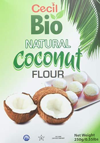 Cecil Bio   Harina de coco natural, 250 g (pack de 6)