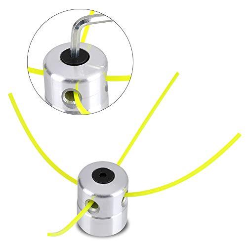 Zerodis Universal Strimmer Head, Petrol Strimmer Replacement Head with Strimmer Line Set, Brushcutter String Trimmer Aluminium