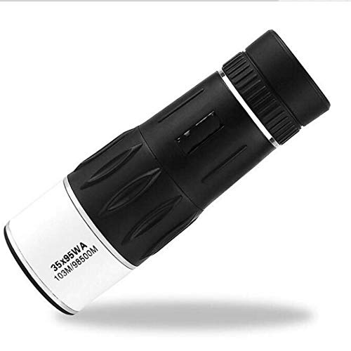 WEI-LUONG Telescopio monocular, 35X95 Zoom telescopio monocular Perfecto for Aves Senderismo Conciertos 35 Veces, Negro al Aire Libre