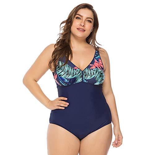 Lover-Beauty Bikini Mujer Una Pieza Talla Grande Ropa de Baño Vintage Retro Push Up Tirante Traje de Baño Mujer Playa Bikini Plus Size XL-4XL Estampado