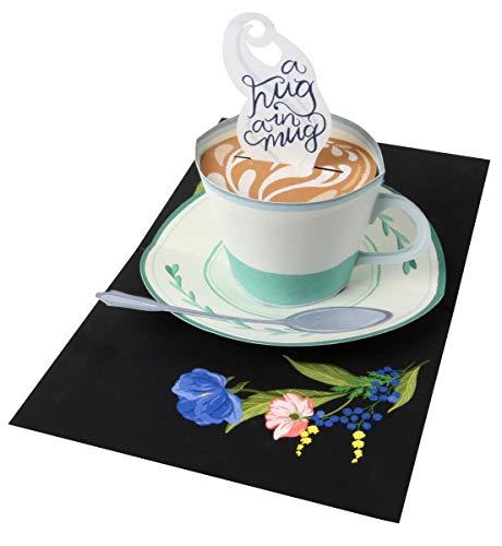 UWP LUXE Geburtstag Pop UP 3D Laser Karte Grußkarte Kaffeetasse 13x11cm
