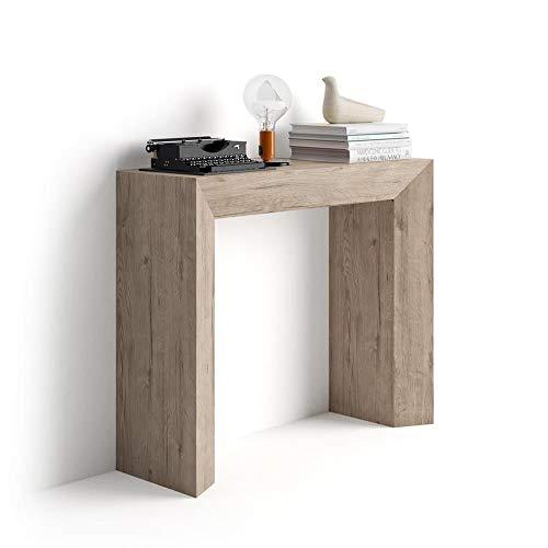 Mobili Fiver, Giuditta Consolle Fissa da Ingresso, Quercia, Nobilitato, 90x30x75 cm, Made in Italy