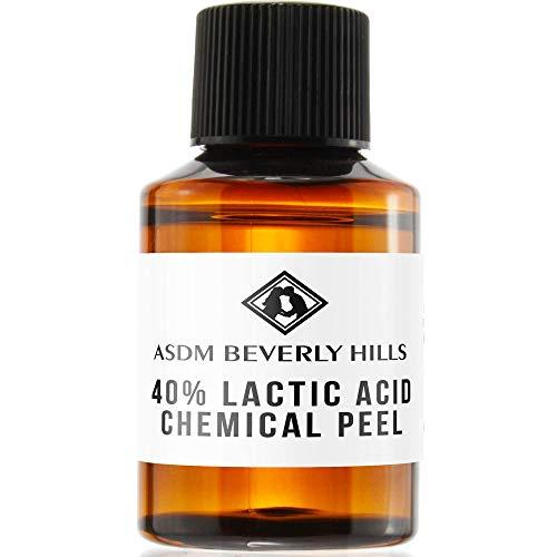 ASDM Beverly Hills Lactic Acid Peel 40% 1oz 30ml Medical Strength Treatment Hyperpigmentation, Age Spots, Melasma, Brighten Dull Skin Discoloration Uneven Complexion, AHA Chemical Peels, Sensitive Dry