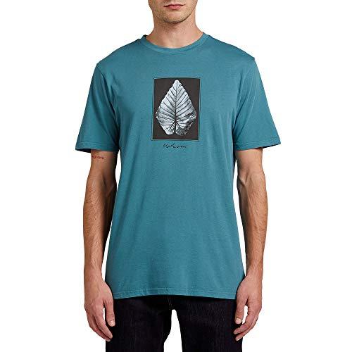 Volcom Men's Frond Short Sleeve Tee Hydro Blue