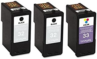 Lexmark 18C1517 Inkjet Cartridge, 3/Pk, Black, Tri-Color (18C1517)