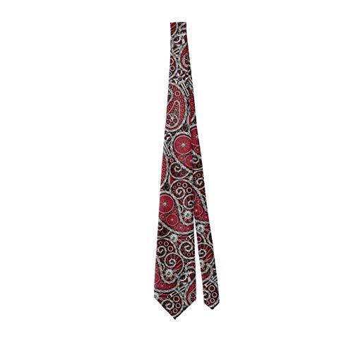 Corbata clásica de los hombres de la bicicleta Paisley patrón Chrome Corbata de los hombres