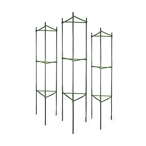 GROWNEER 6 Packs Tomato Cages, Up to 51 Inches Plant Cages Assembled Tomato...