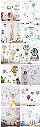 Pegatinas de pared de dibujos animados de globo de aire caliente para guardería, habitaciones de niños, decoración de vinilo (P)