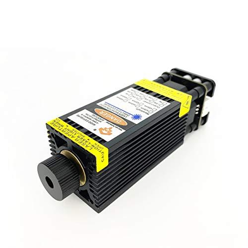 Módulo láser azul de alta calidad de 24V 7W 15W para máquina de corte y grabado láser 24V con PWM/TTL puede cortar madera de balsa de 3 mm puede grabar acero inoxidable (33×33×70mm)