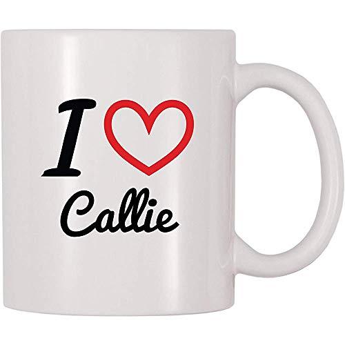 Ich liebe Callie-Kaffeetasse-Tee-Schale lustige Becher