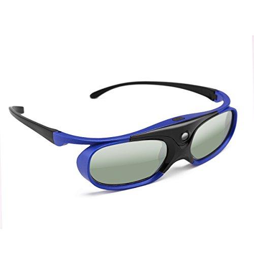 Anteojos 3D, obturador activo DLP universal, anteojos 3D 96-144Hz para Optoma BenQ Acer Viewsonic XGIMI Proyector 3DTV, batería 3.7V 80mAH
