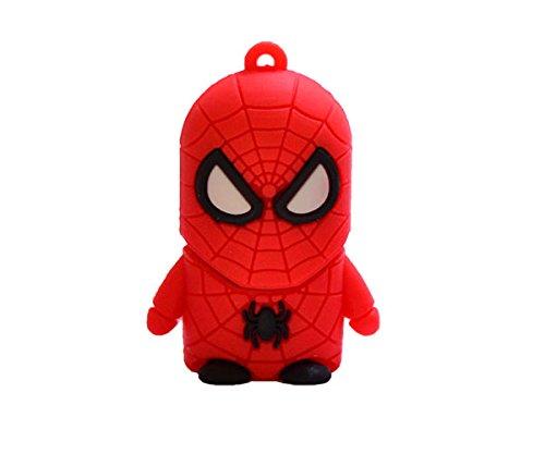 Pendrive Super dessins 16Go de haute qualité, clé USB Flash Stick) avec motif animado- USB 2.0–Avec bellisímo conception de Spiderman