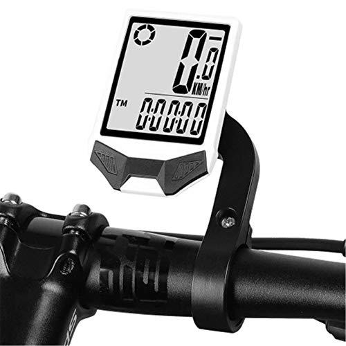 ChengBeautiful Computadora para Bicicleta Odómetro de velocímetro inalámbrico de computadora de Bicicleta (Color : White1, Size : One Size)