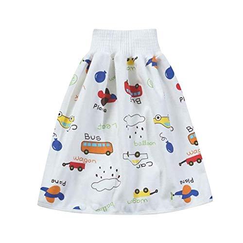 YUYIHAN Comfy Childrens Falda de pañales 2 en 1 Pantalones Cortos Impermeables...
