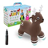 Gerardo`S Hüpftier Elch. Hüpftiere ab 1 Jahr und ab 2 Jahre. Aufblasbare Tiere Spielzeug Draussen oder Drinnen für Kleinkinder ab 12 Monaten.