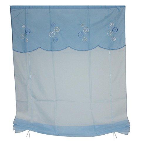 Heine Raffrollo 80x145 blau Fenster Deko Rollo Plissee Jalousie Fertigdeko