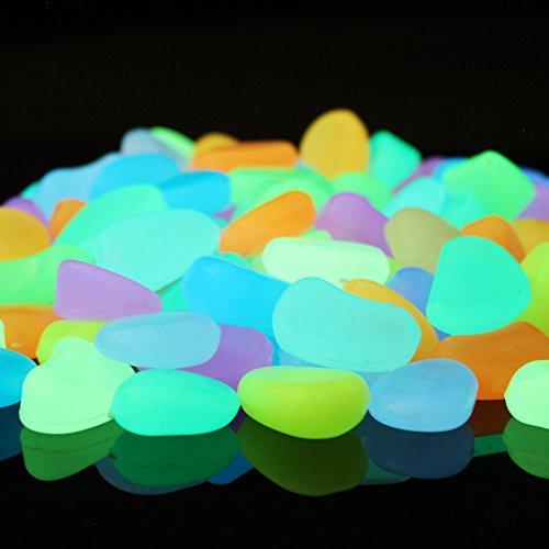 Alan Stone Brilla en la oscuridad luminoso artificial DIY Decoración piedras de guijarros