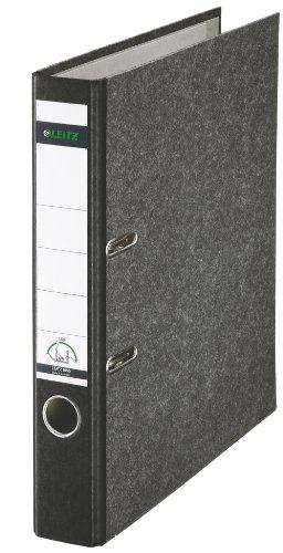 Leitz 10505095 Qualitäts-Ordner (Wolkenmarmor-Papier, A4, 5,2 cm Rückenbreite) schwarz