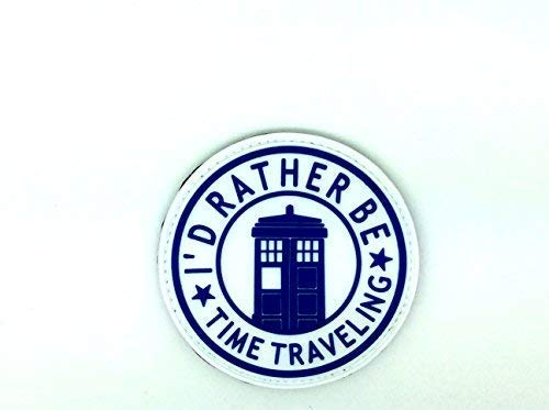 I'D RATHER BE Temps Voyages Dr Who Tardis Doctor Who Cosplay PVC Airsoft Patch