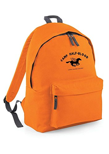 Danni Rose Camp Half Blood Backpack ruck Sack Dimensions: 31 x 42 x 21 cm Capacity: 18 litres Orange