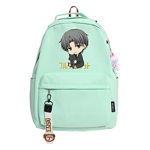 jiminhope Anime Fruits Basket Mochila Kyo Souma Bag Tooru Mochila Yuki Souma Mochila Hatsuharu Souma Bookbag Momiji Souma School Bag 29.0cm * 14.0cm * 41.0cm
