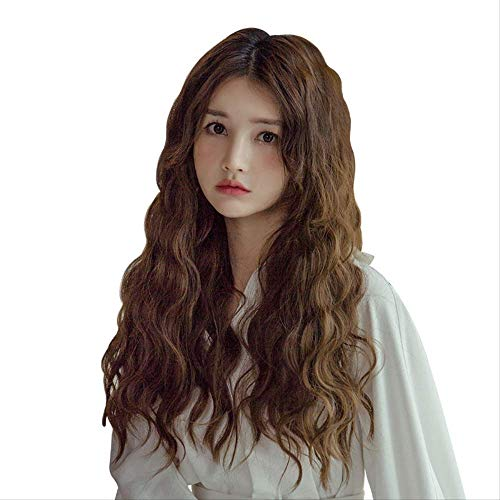 Wig Woman Long Curly Hair Big Wave Lady Wig Bubble-faced Wool Roll Unmarked Lady Wig Halloween Role-playing Costume Dance