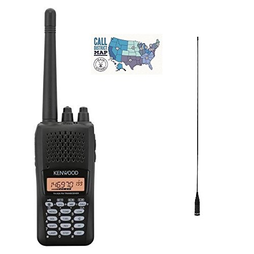 of kenwood ham radios Kenwood TH-K20A Radio and Accessory Bundle - 3 Items: Includes 2M, 5.5W Hand Held Radio, Comet High-Gain Antenna and Ham Guides TM Quick Reference Card!