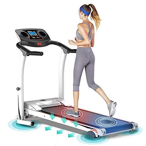 GWSPORT Tapis Roulant Elettrico Pieghevole, Tapis Roulant Elettrico Pieghevole con Sistema di Emergenza da 1,5 HP, Tapis Roulant Fitness per Cardio Jogging