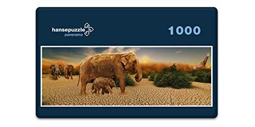 hansepuzzle 79100 Panorama-Puzzle: Afrika, 1000 Teile in hochwertiger Kartonbox, Puzzle-Teile in wiederverschliessbarem Beutel.