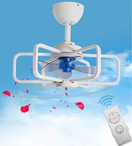 Ventilador de techo con iluminación, limpieza de aire, tercera marcha, velocidad de viento, pantalla de lámpara de acrílico, luz LED tricolor, mando a distancia