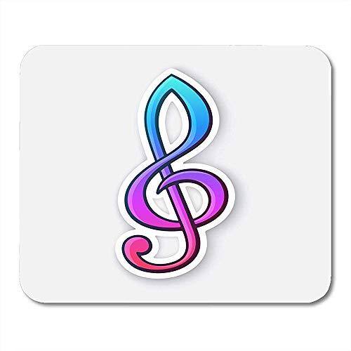 Muis Pads Cartoon Audio Treble Clef Muziek Sticker Met Contour Wit Kleurrijke Badge Klassieke Muis Pad Voor Notebooks Muismatten