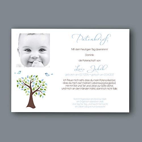 TAUFGESCHENK Lebensbaum - Taufbrief - Patenbrief - Patengeschenk - Geschenke zur Taufe